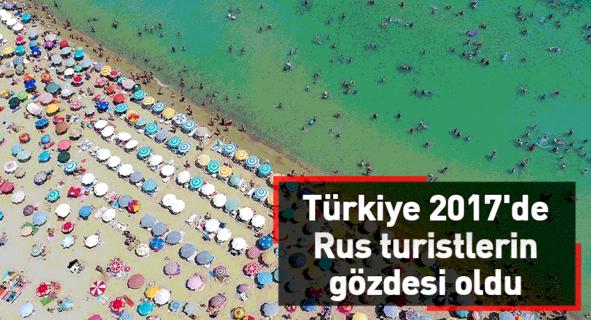 Türkiye 2017'de Rus turistlerin gözdesi oldu
