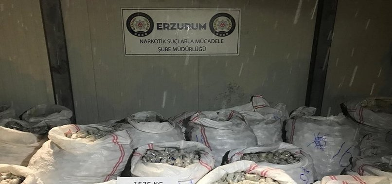 OVER 1.5 TONS OF HEROIN SEIZED IN EASTERN TURKEY