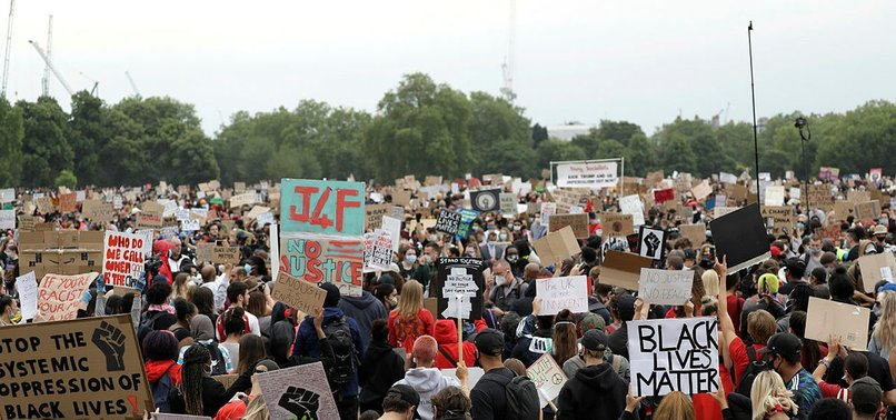 NO JUSTICE, NO PEACE: THOUSANDS IN LONDON PROTEST THE DEATH OF FLOYD
