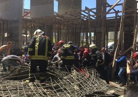 Samsun'da cami inşaatında göçük: 3 ölü
