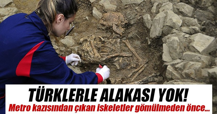 Ortaya çıkan kalıntıların Türklerle alakası yok