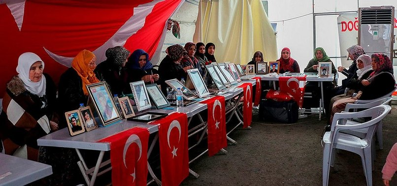 KURDISH FAMILIES BRAVE BITING COLD AT ANTI-PKK PROTEST