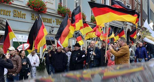 People take part in a demonstration against the asylum seekers in Germany in the eastern German city of Bautzen, Sept. 18, 2016. (AP Photo)