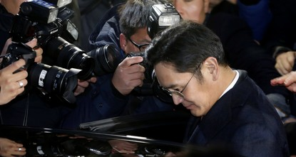 Samsung heir Lee Jae-Yong returned home Friday after marathon questioning by South Korean prosecutors as a suspect in a massive corruption scandal involving impeached President Park Geun-Hye....