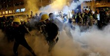 Police launch tear gas as Hong Kong protest turns violent