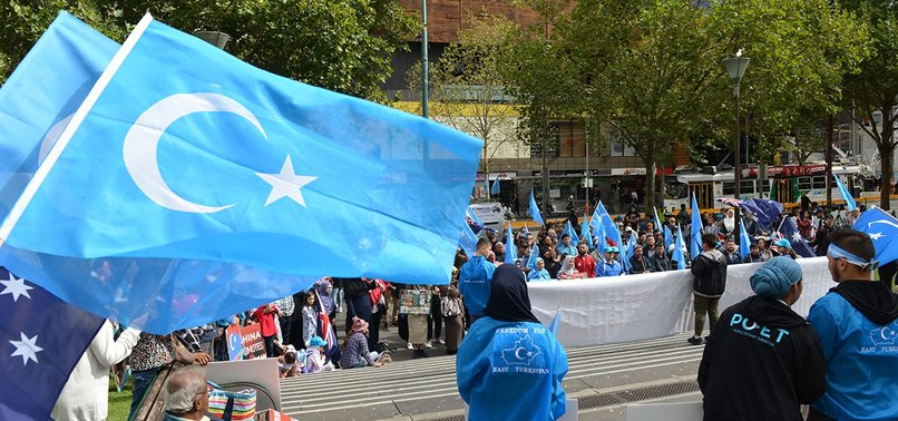 HUNDREDS PROTEST CHINA, URGE US ACTION FOR UIGHURS