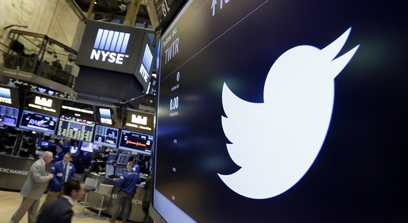 In this July 27, 2016, file photo, the Twitter symbol appears above a trading post on the floor of the New York Stock Exchange (AP Photo)