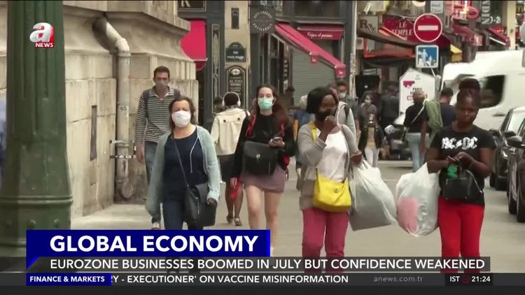 Eurozone businesses boomed in July but confidence weakened