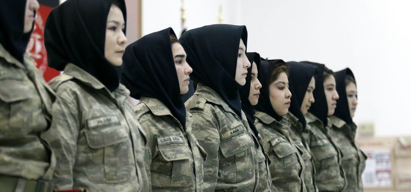 FEMALE AFGHAN ARMY OFFICERS COMPLETE TRAINING IN TURKEY