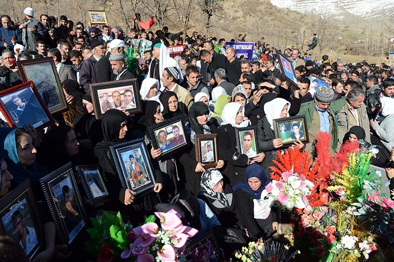 Victims of families of Uludere incident hold a commemorative ceremony at the anniversary of the incident on Dec. 28, 2012. (AA Photo)