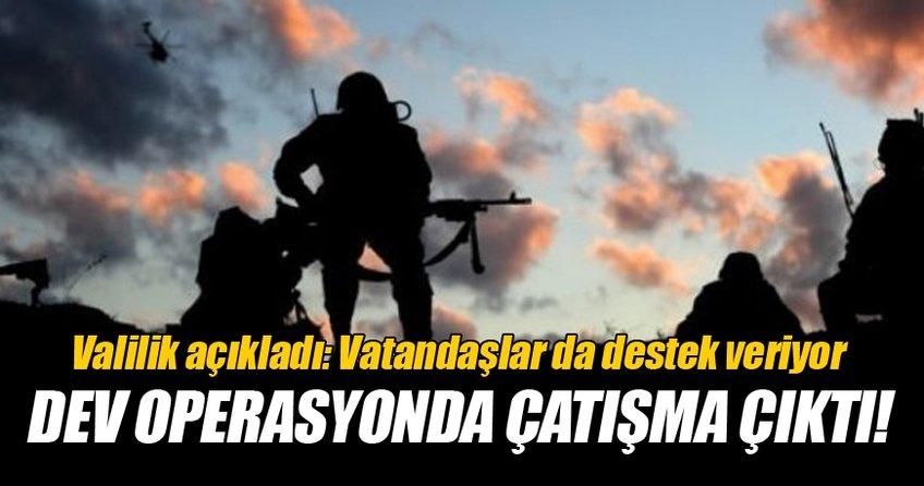 Teröristler ile güvenlik güçleri arasında çatışma çıktı!