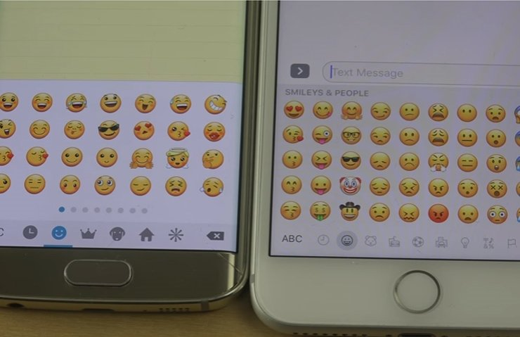 Samsung vs. Apple emoji karşılaştırması