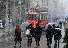 İstanbul için kar alarmı