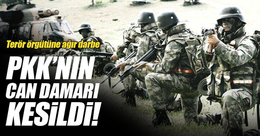 Terör örgütüne ağır darbe! PKK'nın can damarı kesildi