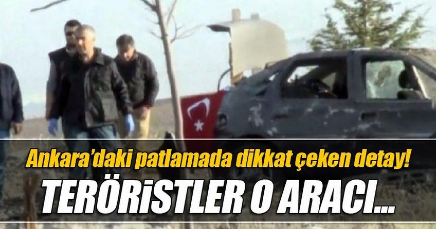 Ankara'daki patlamada dikkat çeken ayrıntı