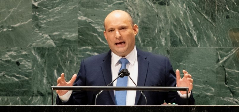 ISRAELI PREMIER IGNORES PALESTINIAN ISSUE, URGES ACTION AGAINST IRAN AT UN