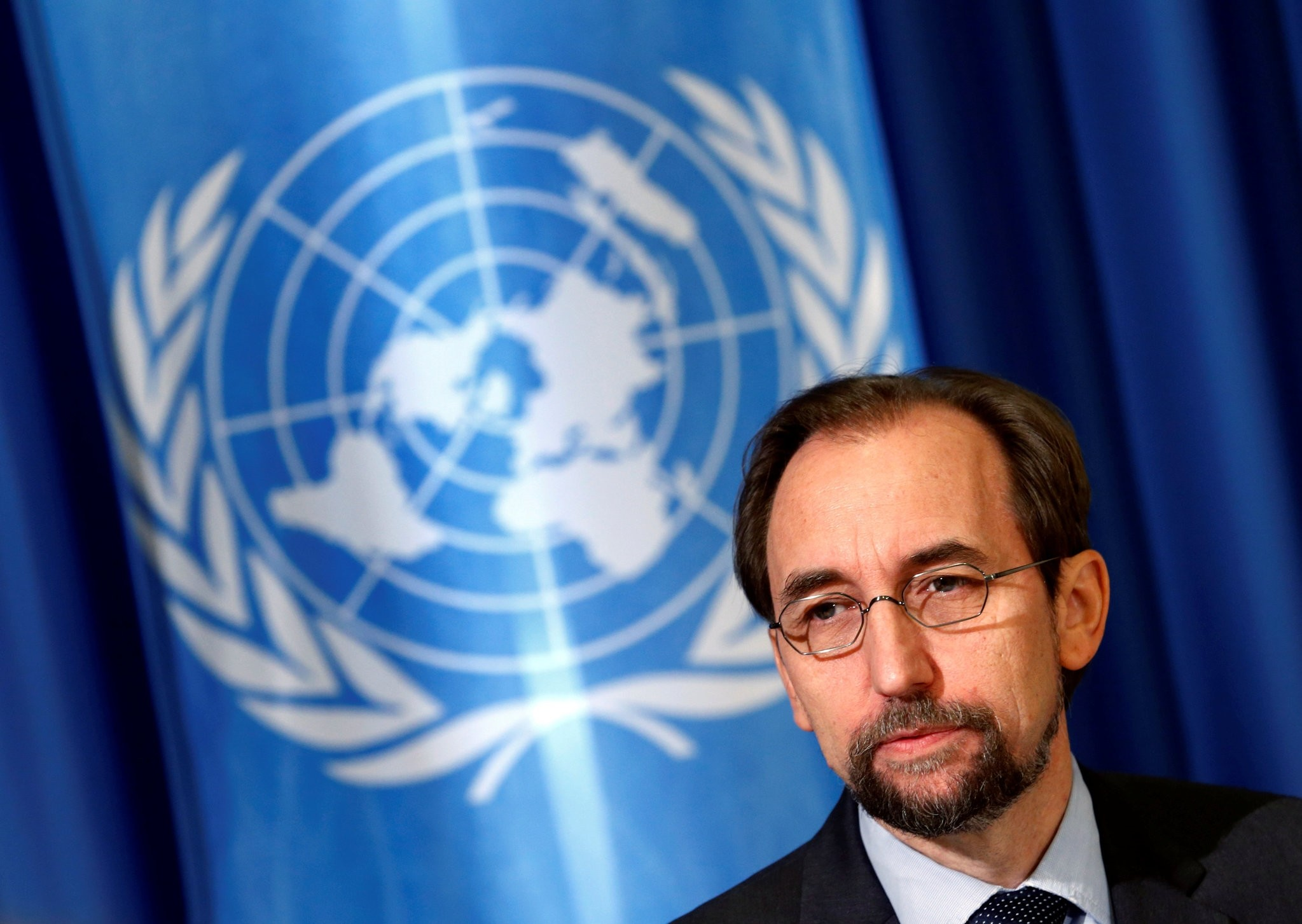 United Nations High Commissioner for Human Rights Zeid Ra'ad Al Hussein attends a media briefing at the U.N. European headquarters in Geneva, Switzerland October 12, 2016. (REUTERS Photo)