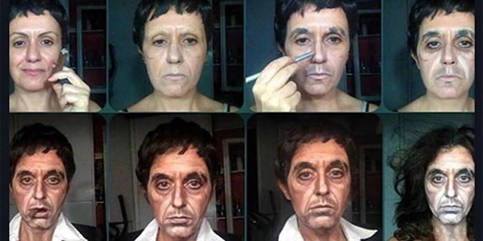 Makyaj sanatçısı Lucia Pittalis'ten şaşırtıcı makyajlar
