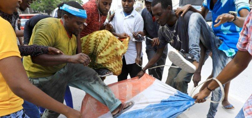 SOMALI PROTESTERS TAKE TO MOGADISHU STREETS TO CONDEMN MACRONS ANTI-ISLAMIC REMARKS