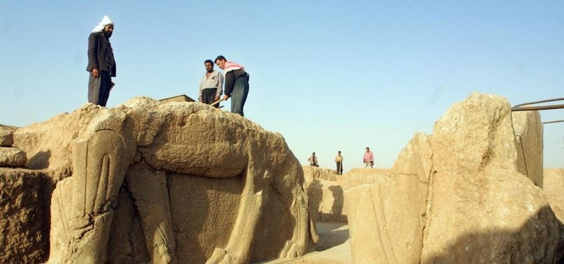 ANTIQUITIES SMUGGLING RING BROKEN UP IN IRAQS NINEVEH