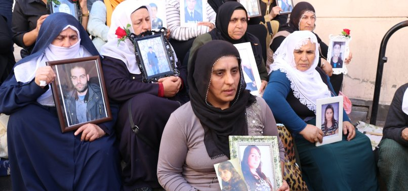 ANTI-PKK SIT-IN STAGED BY KURDISH MOTHERS IN TURKEYS DIYARBAKIR GROWING DAY AFTER DAY