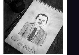 Cumhurbaşkanı Erdoğan, resmini çizen engelli Gülşah'ı telefonla teşekkür etti