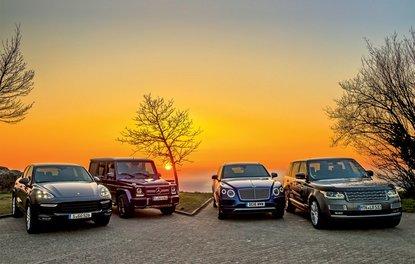 KARŞILAŞTIRMA · Bentley Bentayga, Mercedes-AMG G 63, Porsche Cayenne Turbo S, Range Rover LWB 5.0 V8