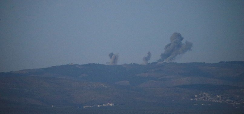 TURKISH FORCES CONTINUE TO SHELL PYD/PKK TARGETS IN SYRIAS AFRIN