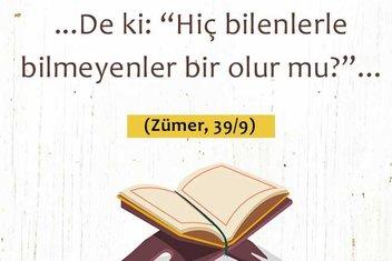 İslam'ın ilme verdiği önem hakkında ayet ve hadisler