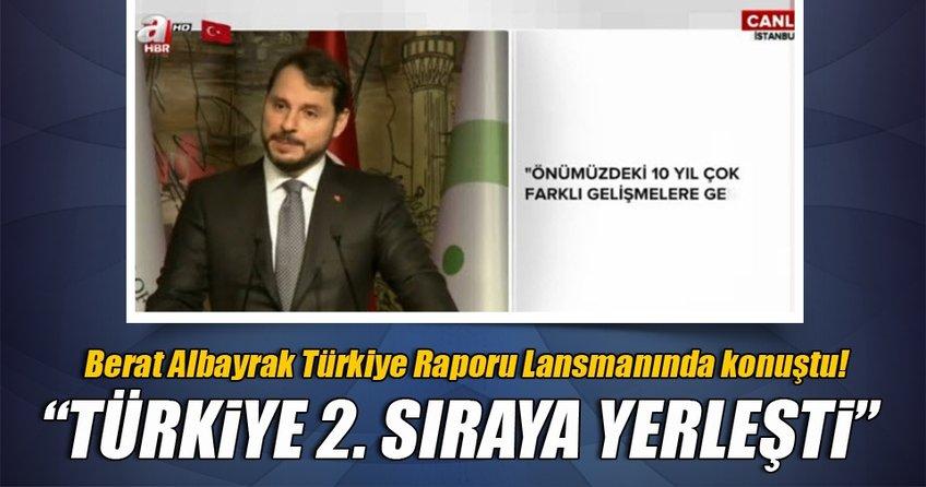 Bakan Berat Albayrak: Türkiye 2. sıraya yerleşti