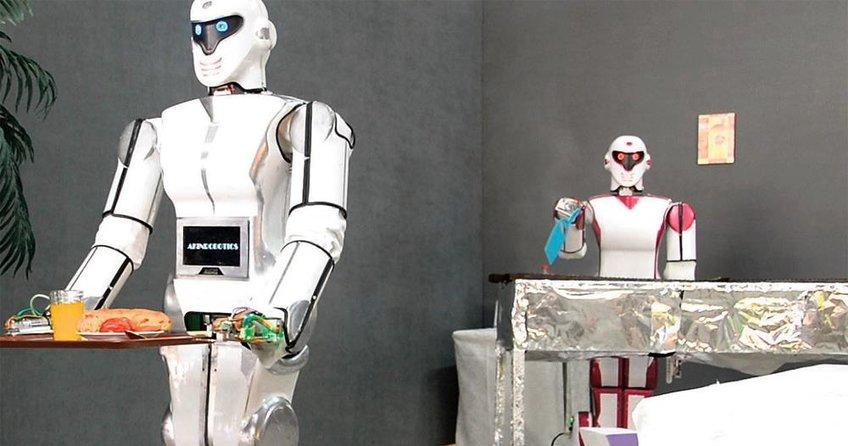 Yerli malı robot mangal yapıyor