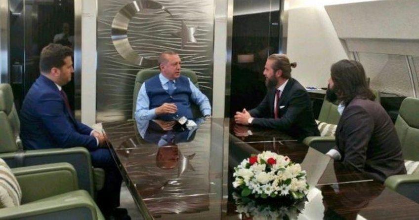 Cumhurbaşkanı Erdoğan'ın uçağında sürpriz misafirler