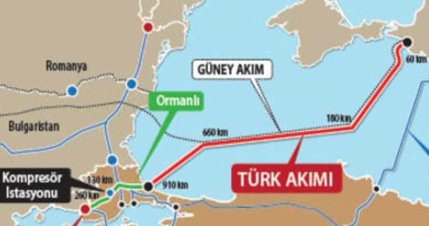 Türk Akımı Projesi'nde hat paylaşımı