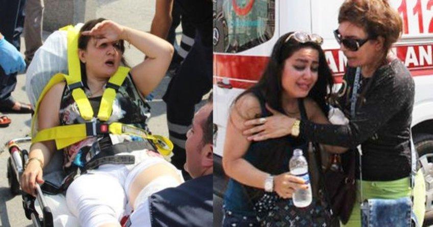 Taksim metrosunda 2 turist yaralandı