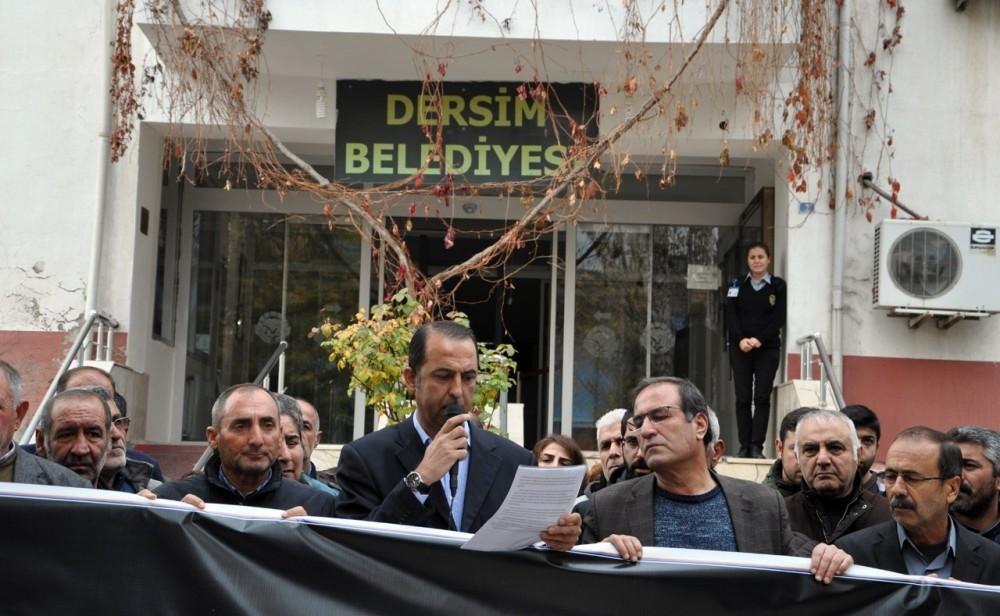 Pro-PKK DBPu2019s Tunceli co-chair Mehmet Ali Bul (C)