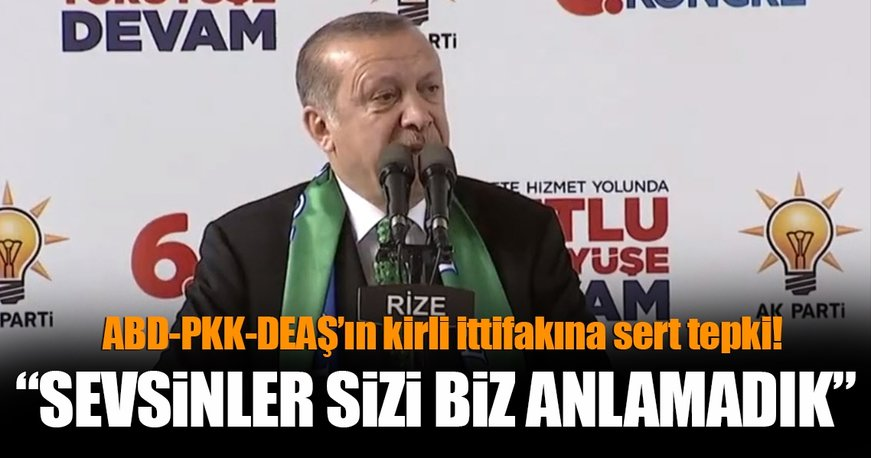 Cumhurbaşkanı Erdoğan kirli ittifaka sert tepki!