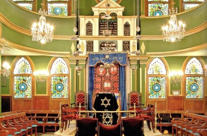 An Italian synagogue in Galata, Istanbul.