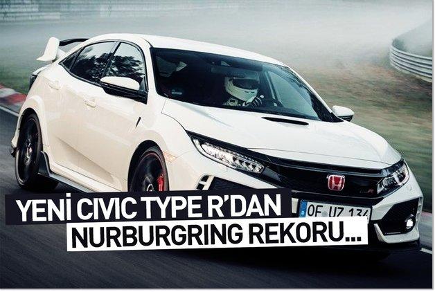 Yeni Civic Type R'dan Nürburgring rekoru...