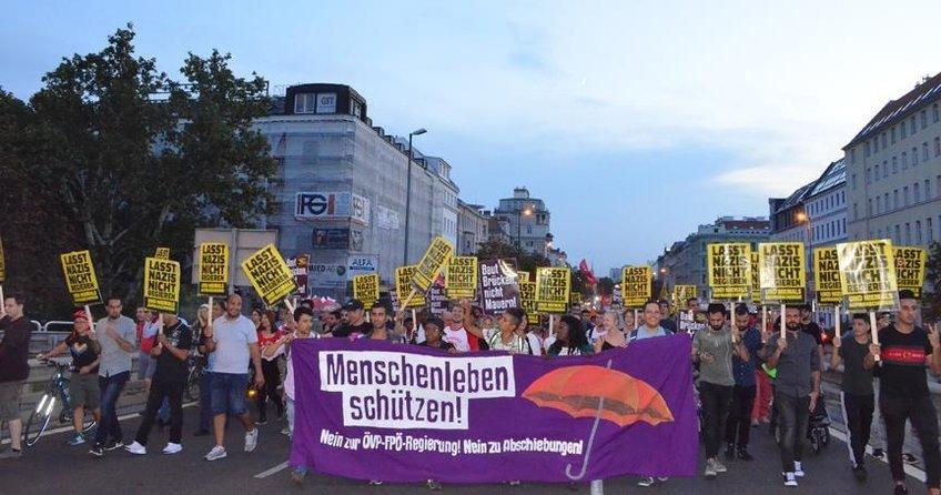 Avusturyada AB Göç politikaları protesto edildi