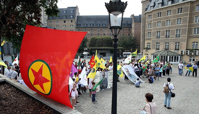 PKK event held Brussels to mark the beginning of its attacks against Turkey, Aug. 15, 2016.