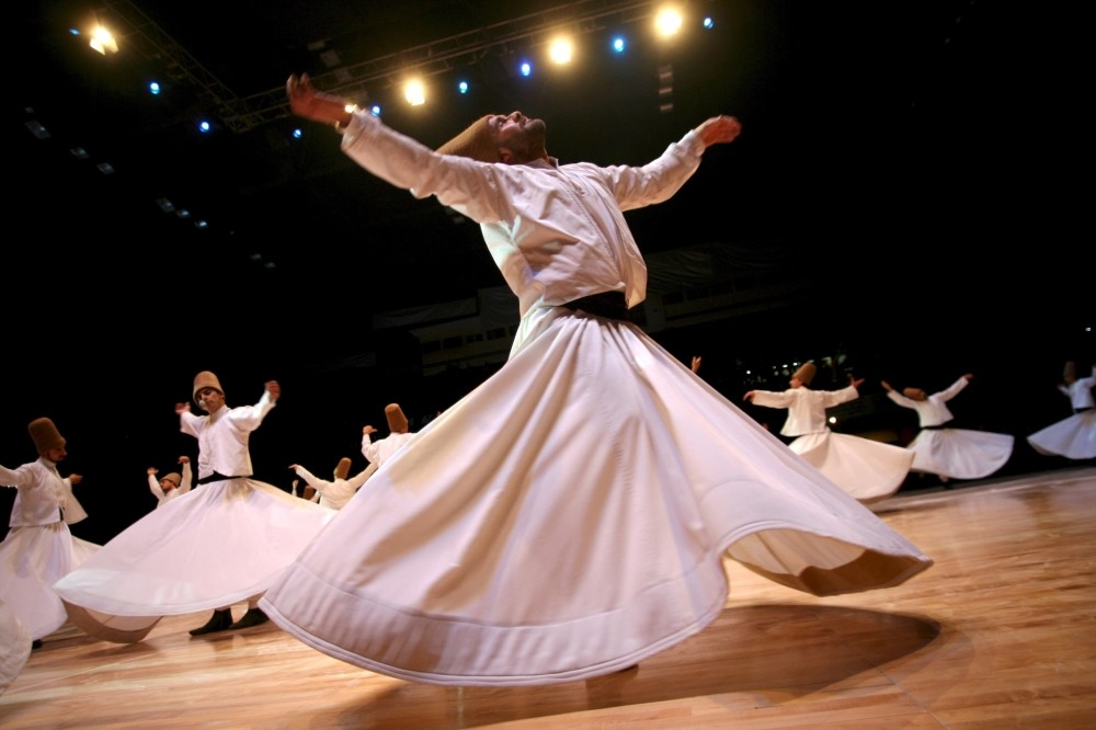 The whirling dervishes from Turkey visit Pakistan every year, and performances are attended by thousands of people, including art and music lovers.