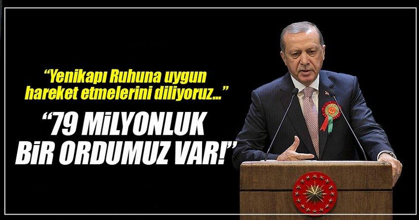 Cumhurbaşkanı Erdoğan: Bu mekan milletin ve devletin mekanıdır