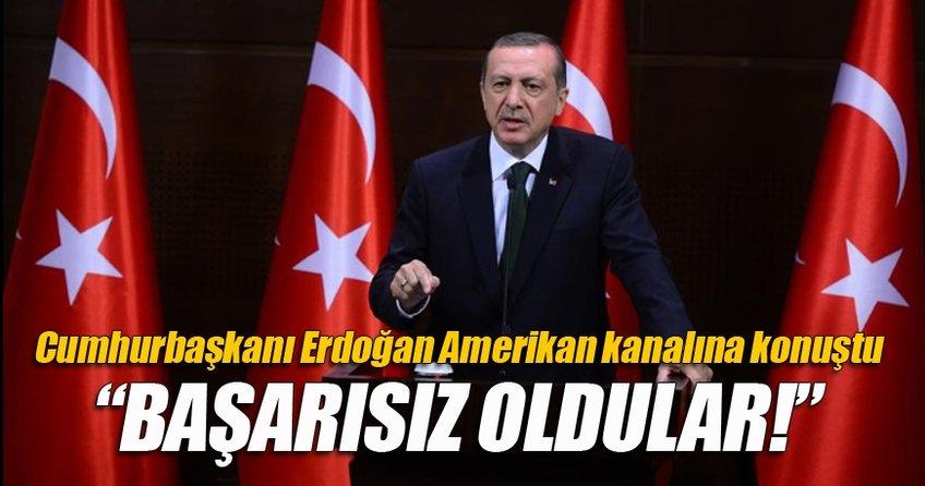 Cumhurbaşkanı Erdoğan CBS kanalına konuştu