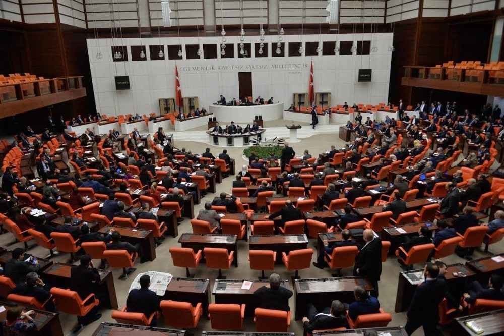 The Turkish Grand National Assembly (TBMM) in Ankara during the voting for constitutional changes in January.