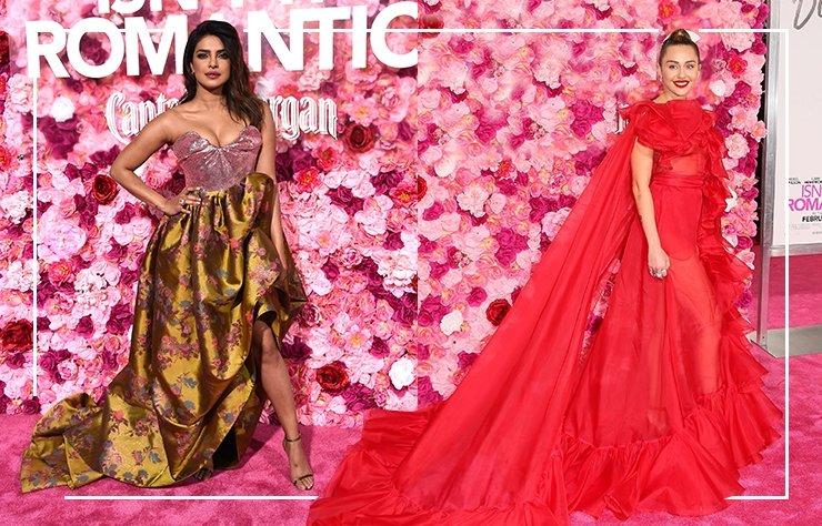 Miley Cyrus ve Priyanka Chopra Isn't it romantic galasında büyüledi