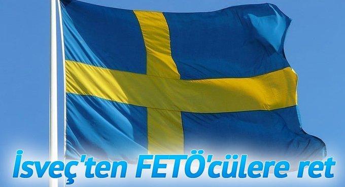 İsveçten FETÖcülere ret