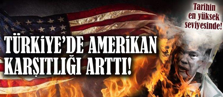 Türkiyede ABD karşıtlığı artıyor!