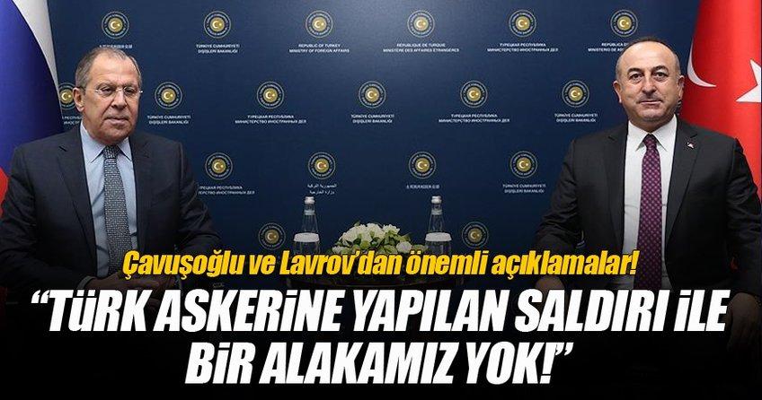 Dışişleri Bakanı Çavuşoğlu ile Rusya Dışişleri Bakanı Lavrov'dan önemli açıklamalar