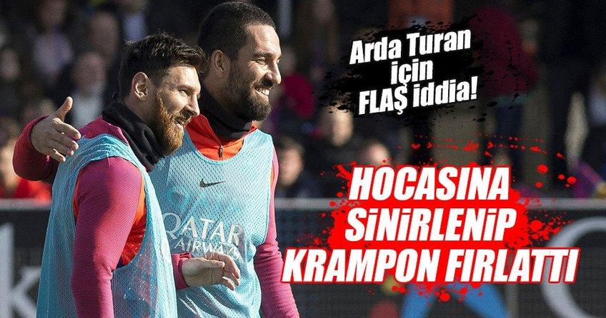 Arda Turan idmanda krampon fırlattı!
