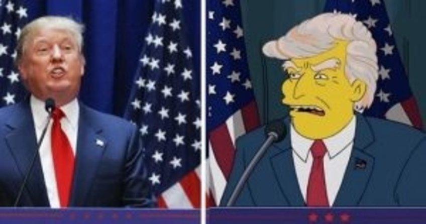 Simpsons, Trump'ı 16 yıl önce 'ABD Başkanı' olarak gördü